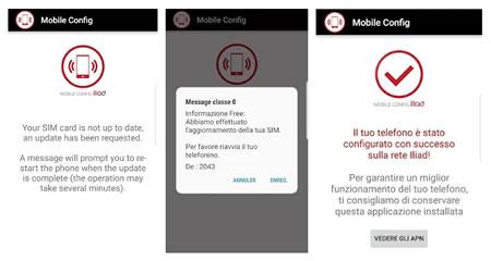 App Iliad Mobile Config