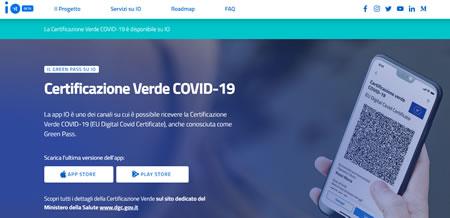 App Io per certificazione verde Covid 19