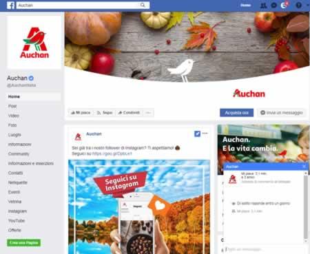 Auchan su Facebook