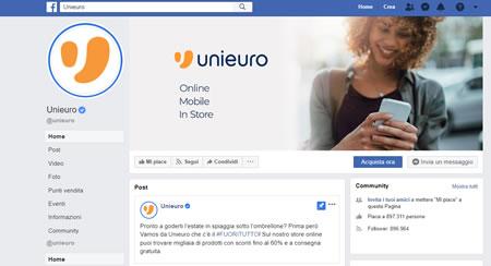 Come contattare Unieuro sui social network