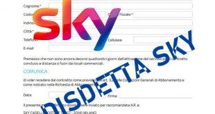 Disdetta Sky: quanto costa ed i passi da seguire per disdire l'abbonamento