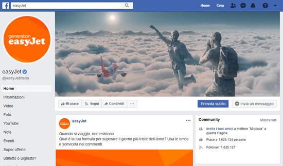 Contattare EasyJet tramite i social