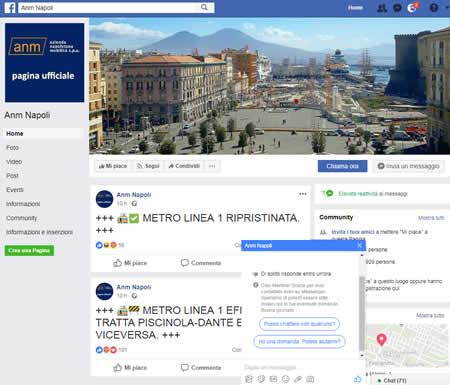 metropolitana di Napoli su Facebook