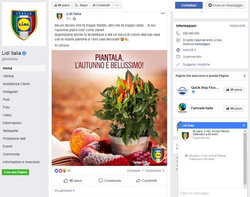 Pagina Facebook Lidl