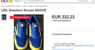Dove acquistare le scarpe Lidl che valgono una fortuna su internet