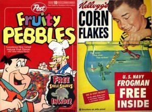 Vecchie confezioni di cereali
